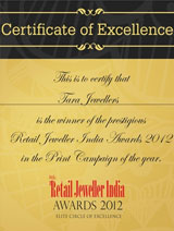 """Certificate of Excellence"" for the print campaign of the year 2012"