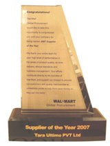"Received the ""Global Supplier of the Year"" Award for 2007 from Wal-Mart."