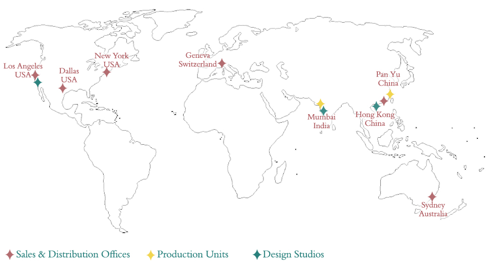 Our companies tara jewels limited world map showing presence of tara jewels limited across the world gumiabroncs Gallery